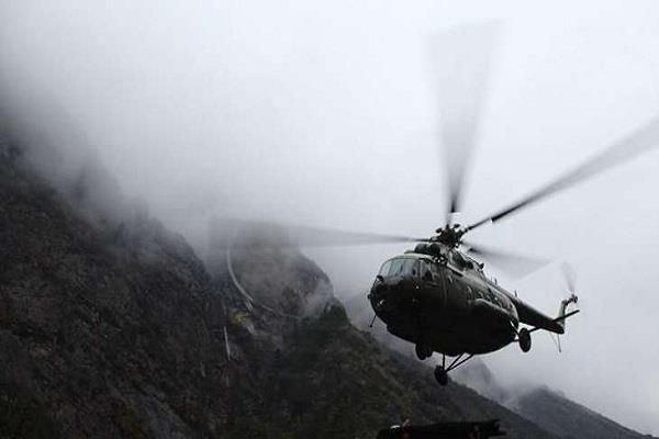 emergency landing of nine helicopters due to bad weather in nepal