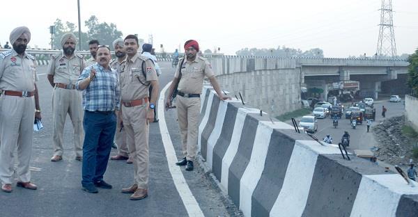 inspection on jalandhar flyover