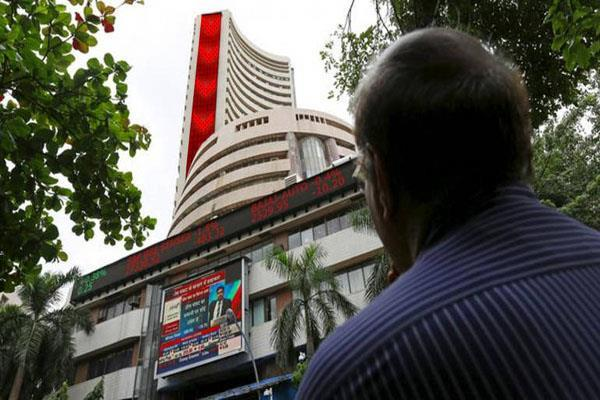stock market closed with a fall the sensex broke 642 points and the