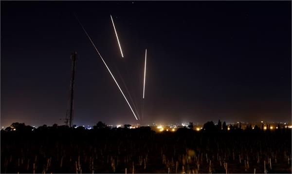 five rockets fired on israel from gaza