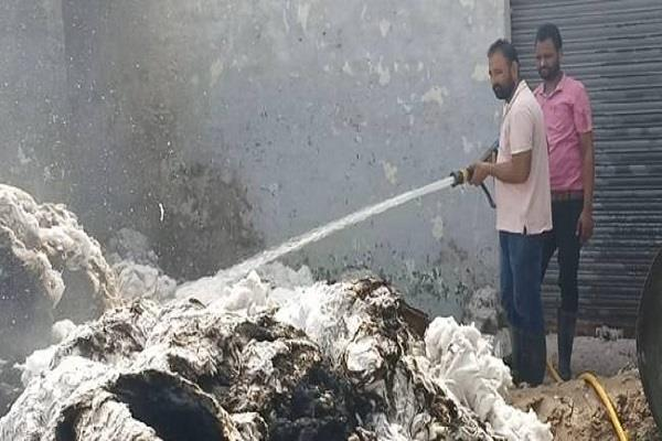 fire in surgical cotton factory