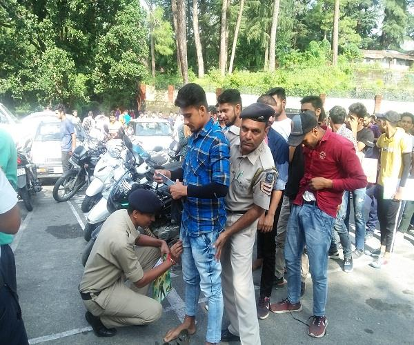 police recruitment exam barefoot candidates found in centers