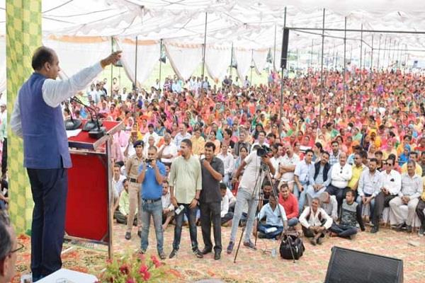 dharamshala beneficiary rally