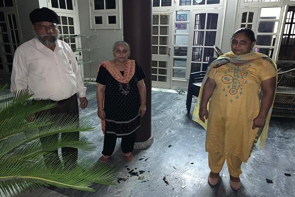 punjab ekta party leader s house attacked