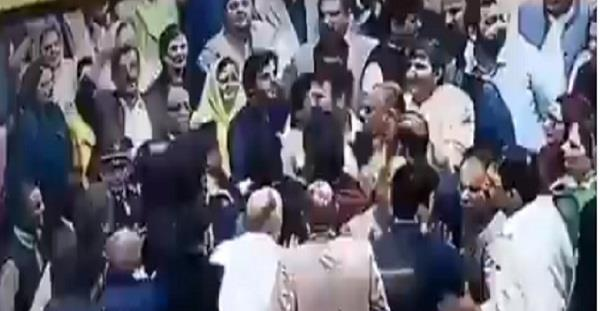 pakistani mps shout punches at each other in parliament
