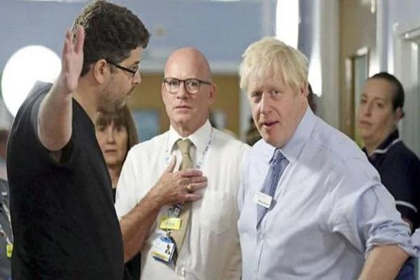 when the man became angry with british prime minister johnson for lying