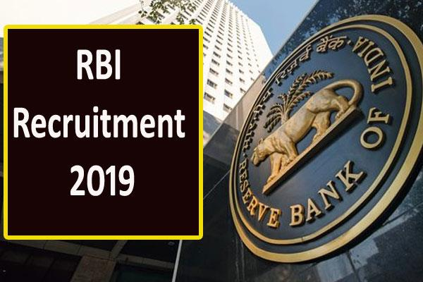 rbi recruitment 2019 recruitment for 199 officer grade b posts apply soon