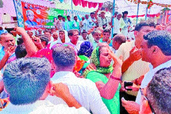 villagers in village pur have cm regarding the problem of drinking water
