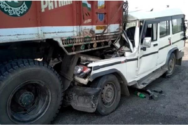 bollero collided with a standing truck
