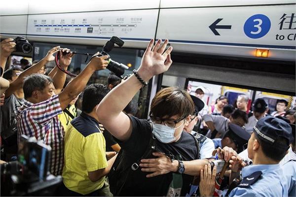 hong kong protests activists disrupt rush hour train services