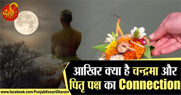 what is the connection between the moon and the pitra paksha