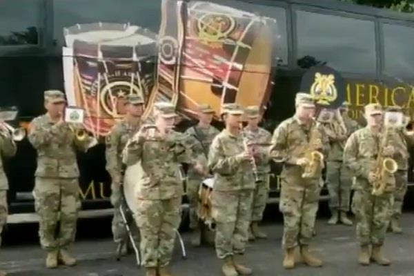 us army played india s national anthem with army band