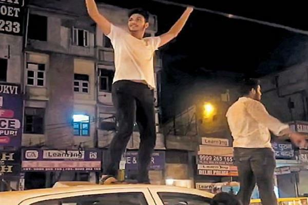 traffic rules broken in celebration of victory