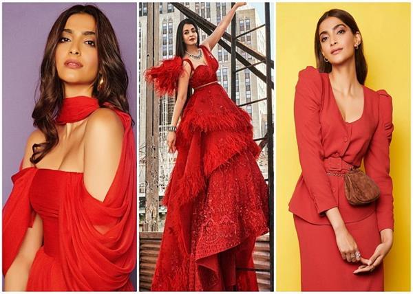 ऐश्वर्या और सोनम ने रेड ड्रेसेज पहन कर जीता सबका दिल (See Pics)