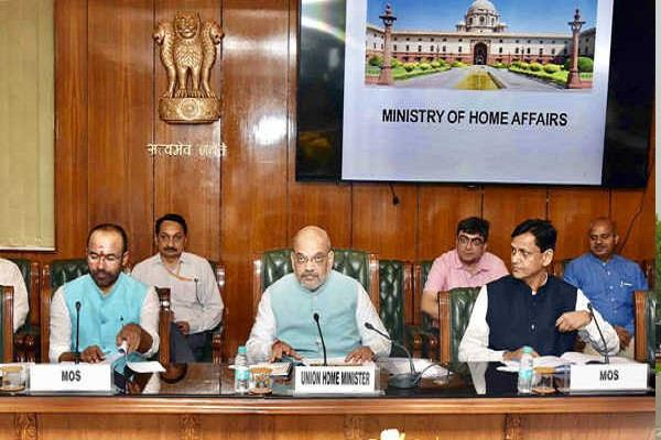 a high level meeting is underway at ministry of home affairs