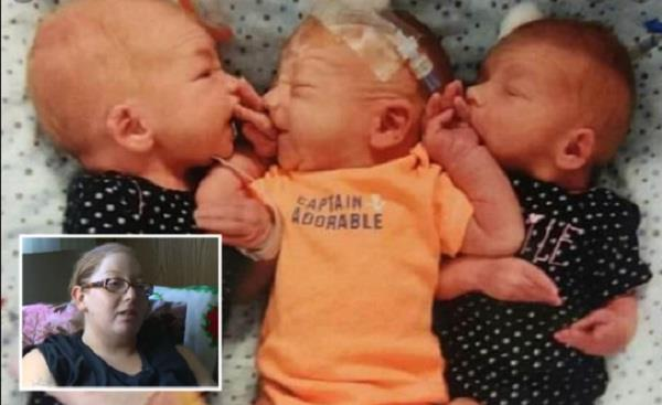 woman births triplets after believing she had kidney stone