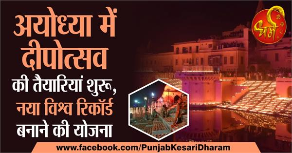 preparations begin for deepotsav in ayodhya plans to set a new world record