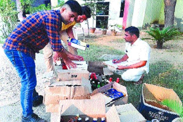 liquor being sold illegally from property dealer s office recovered