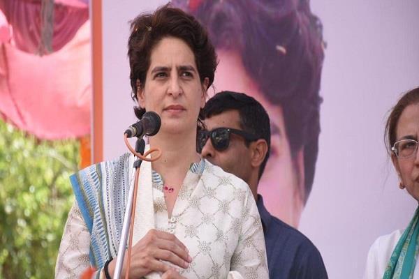 priyanka gandhi attack on modi government about economy slowdown
