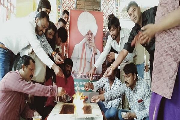 pm s birthday celebrated in a unique way by cleaning the temple