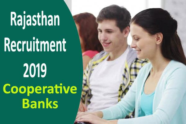 rajasthan recruitment 2019 for 715 posts in cooperative banks