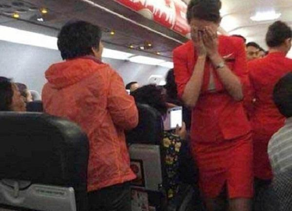 air hostess threatened to be thrown out of the plane by a psycho couple