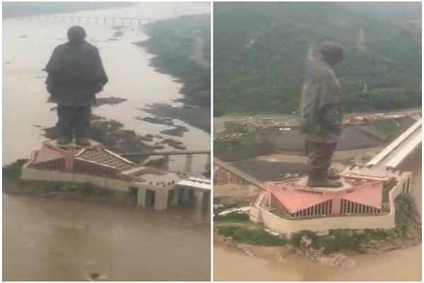 never before have you seen this beautiful view of the statue of unity