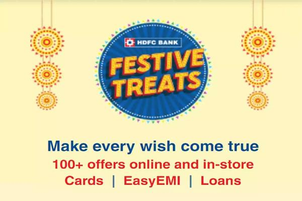 hdfc bank festive treats get big discounts on personal loans shopping and more