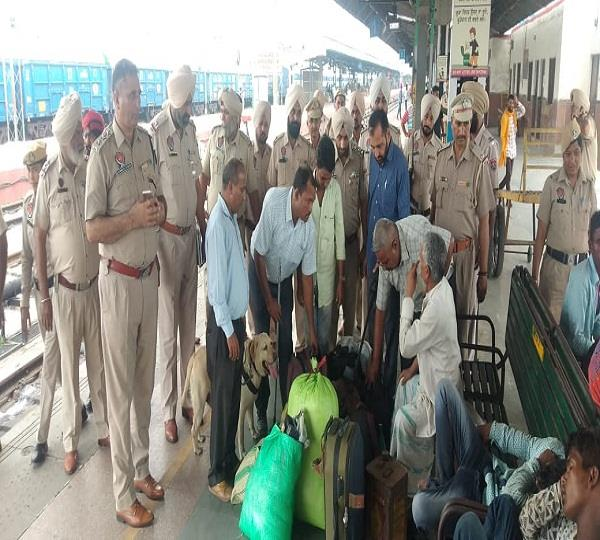 on high alert railway police conducted joint search operation at station