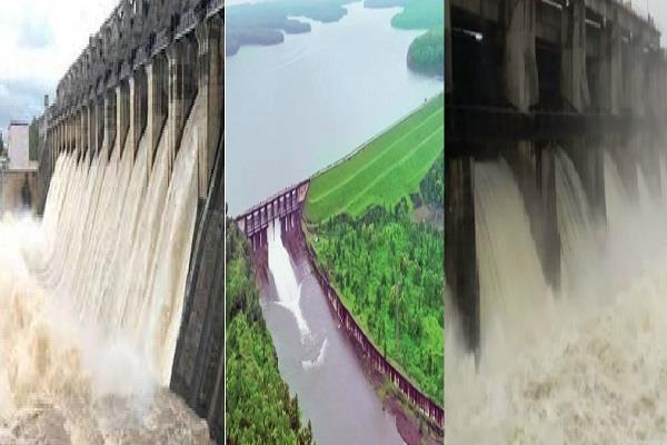 large dams gates opened due to heavy rains