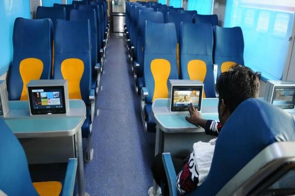 enjoy watching movies during train journey