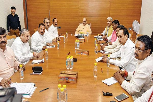 amit shah convened important meeting after assembly election announcement