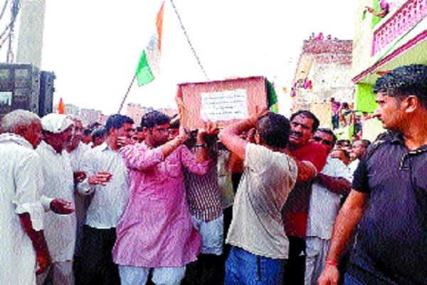 the public gathered to pay martyr sunil everyone s eyes became moist