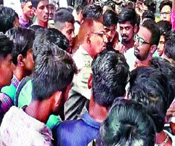 24 000 challan of bike driver college student cut commotion