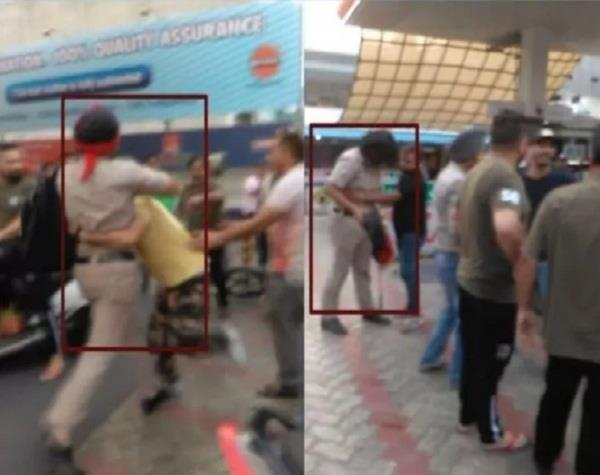 police man beaten by 3 young man