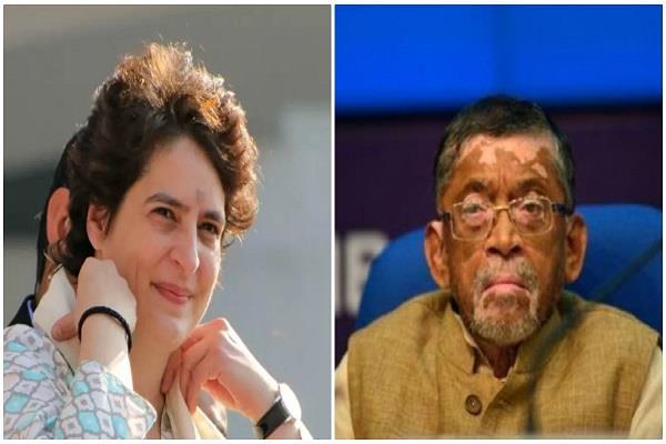 priyanka question to gangwar about jobs