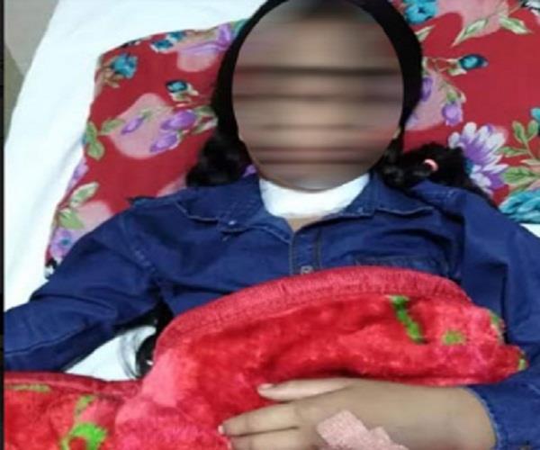 10 year old girl warts cut throat