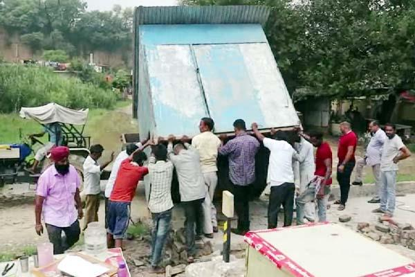 action on illegal encroachment