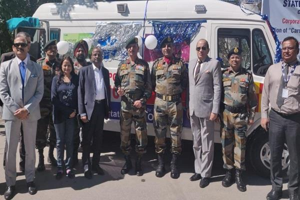 sbi gave ambulance gift to soldiers