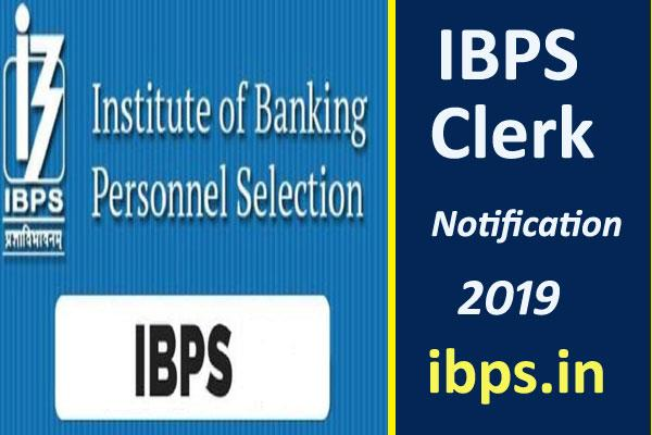 ibps clerk notification 2019 registration begins today