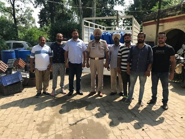 2500 liter large consignment of high potency alcohol seized