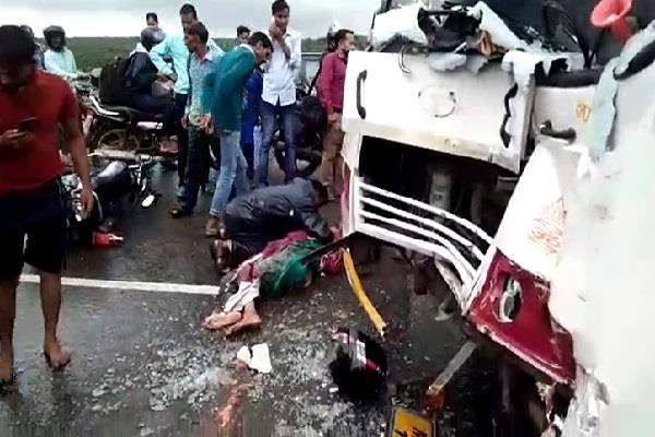 activa rider teacher hit by bus and truck dies