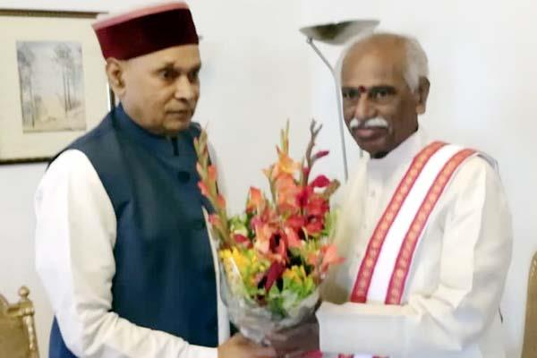 prem kumar dhumal met from new governor