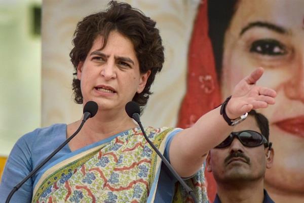 bjp which promotes farmer welfare does not let farmers speak  priyanka