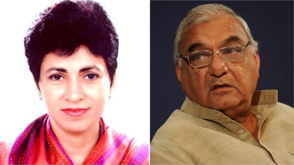 on the lines of khattar hooda and selja preparing to measure the state