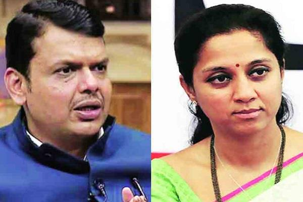 sharad pawar s daughter attack on fadnavis