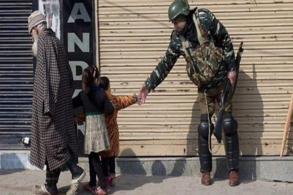 despite the restrictions people have known their loved ones in kashmir