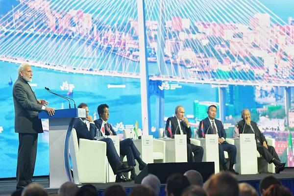 modi said in russia india committed to become a  5 000 billion economy