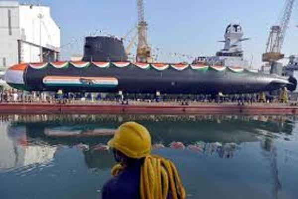 rajnath singh commissions the second kalvari class submarine ins khanderi