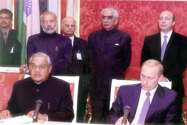 modi recalled 2001 visit to russia as chief minister of gujarat